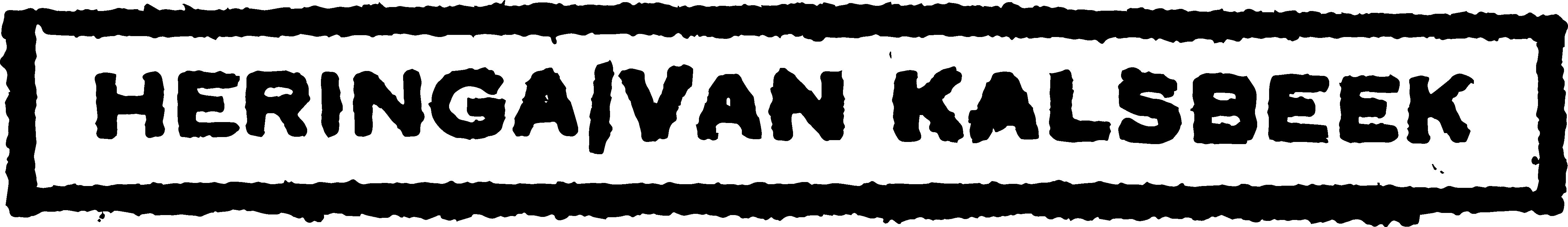 Heringa/Van Kalsbeek